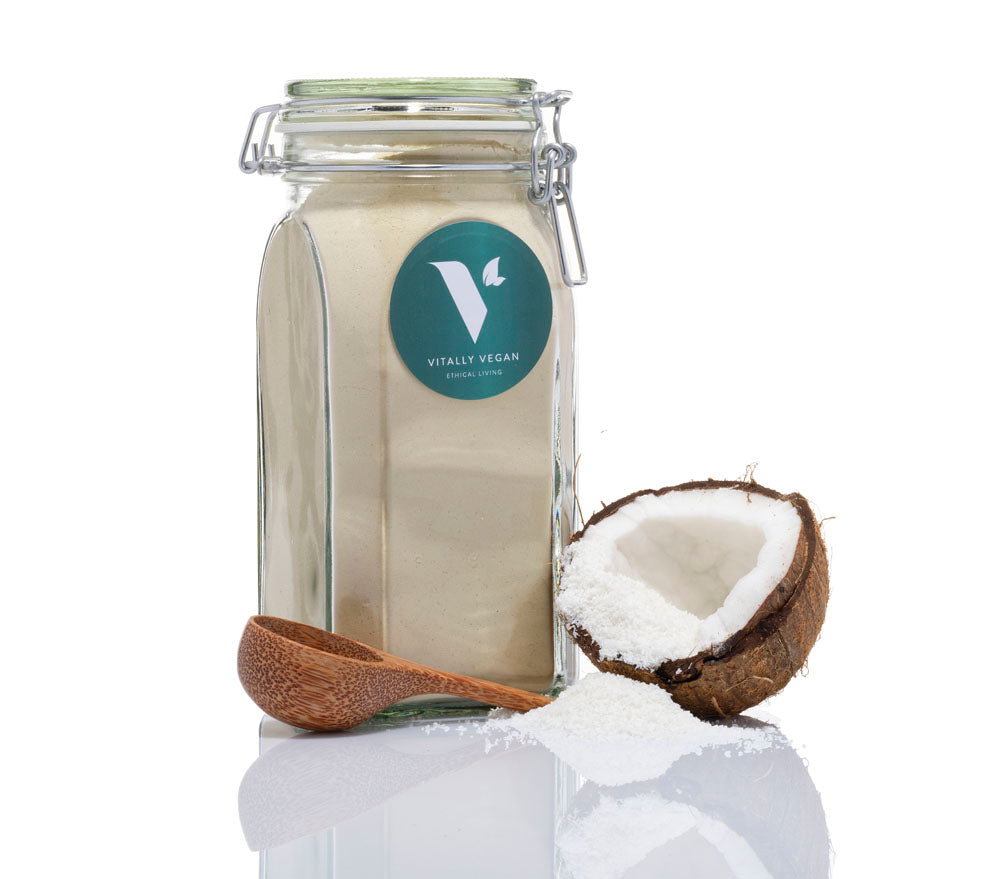 THE STARTER PACK - JAR, SCOOP & 1 BAG - COCONUT VEGAN PROTEIN POWDER