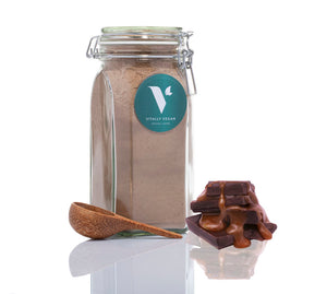 THE STARTER PACK - JAR, SCOOP & 1 BAG - SALTED CARAMEL VEGAN PROTEIN POWDER