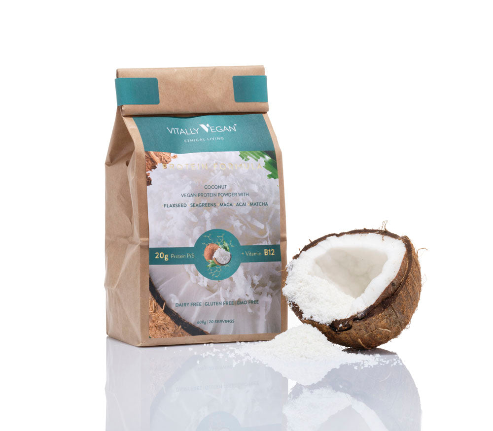 VEGAN PROTEIN POWDER - REFILL BAG - COCONUT - 600g
