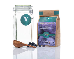 Load image into Gallery viewer, The Protein Starter Pack - JAR, SCOOP & 1 BAG - Blueberry Flavour Vegan Protein Powder
