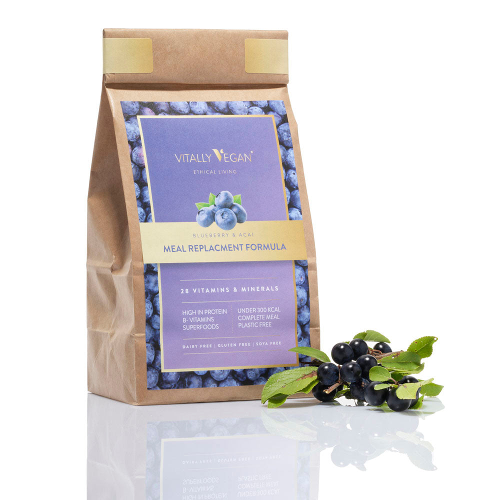 Vegan Meal Replacement Shake - Refill Bag - Blueberry & Acai - 600g