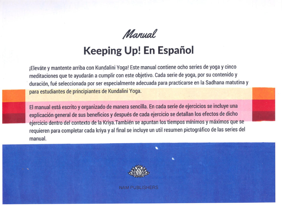 Keeping Up!  En español