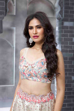 Multi-coloured Ivory Lehenga Set
