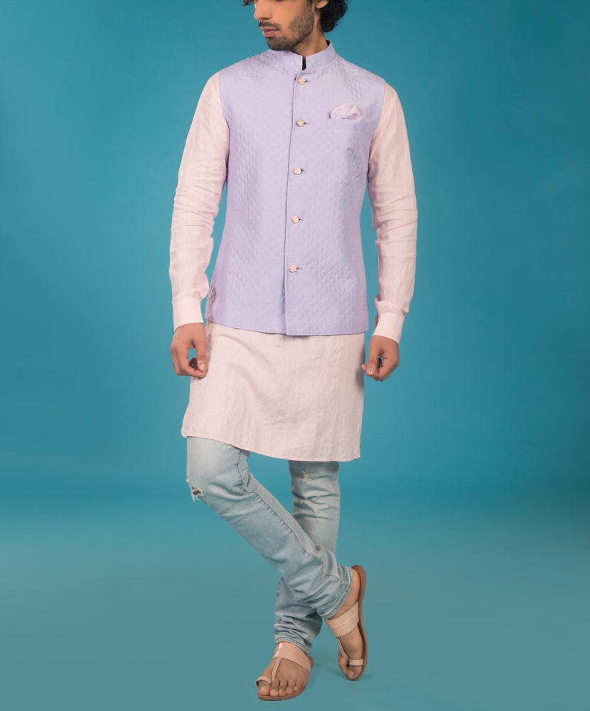 Lilac Quilted Bundi Jacket