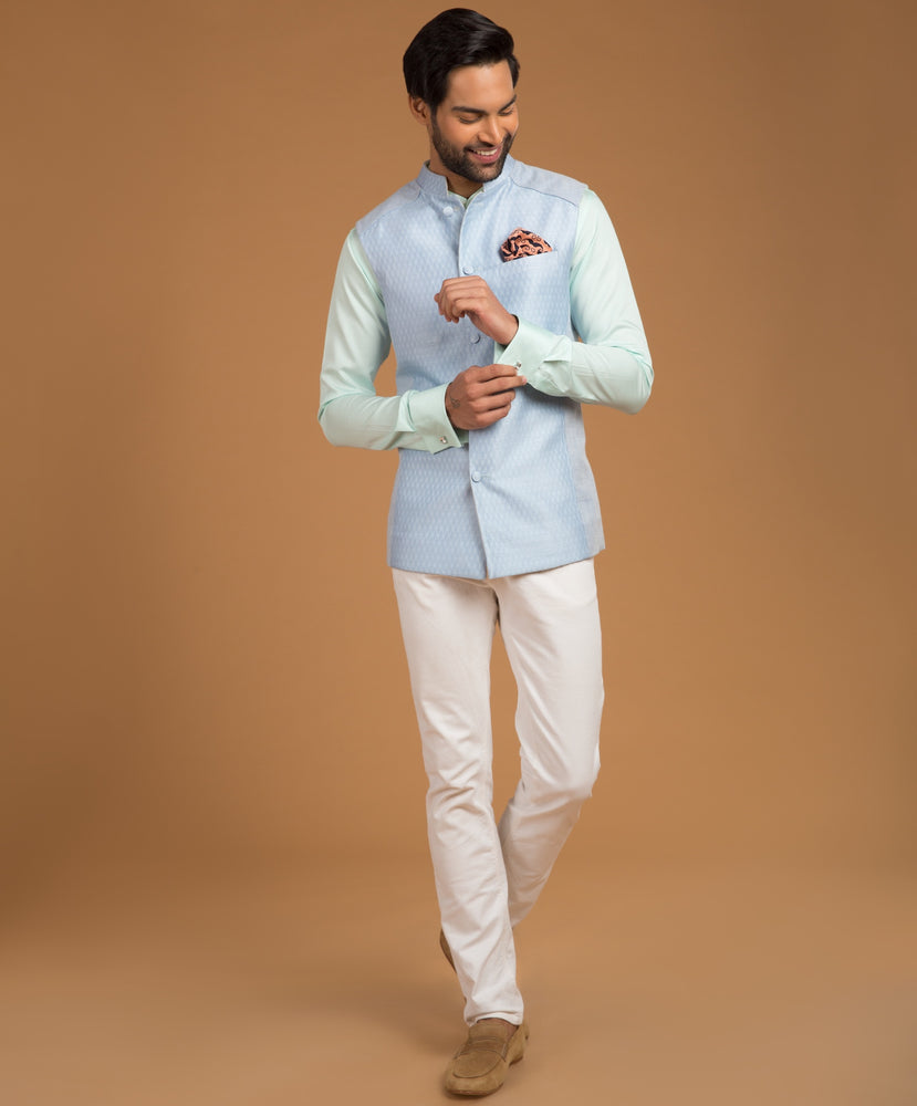 Powder Blue Bundi Jacket