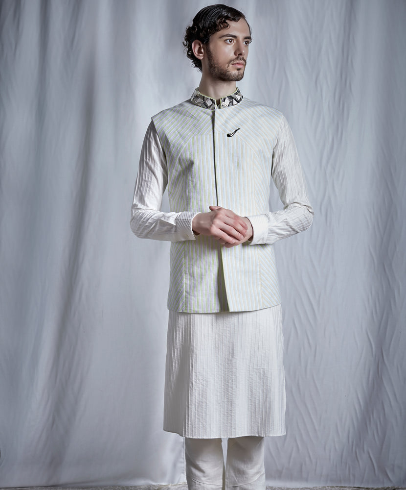 Off-White Kurta Set