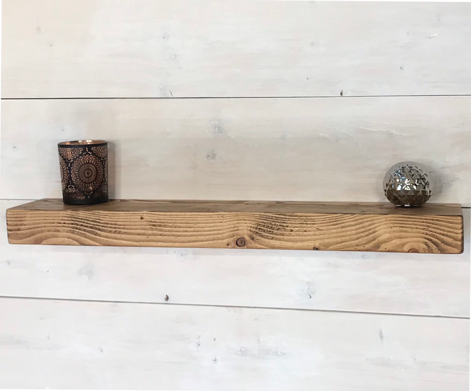 rustic floating shelves industrial 6 15cm deep wood chic shelf brackets floating 70mm thick