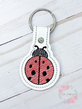 Load image into Gallery viewer, Lady bug  snap tab (fill and applique versions included) Digital Download 4x4