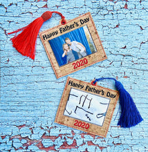 Load image into Gallery viewer, Father's Day Frame and Tag Applique Set 4x4 DIGITAL DOWNLOAD
