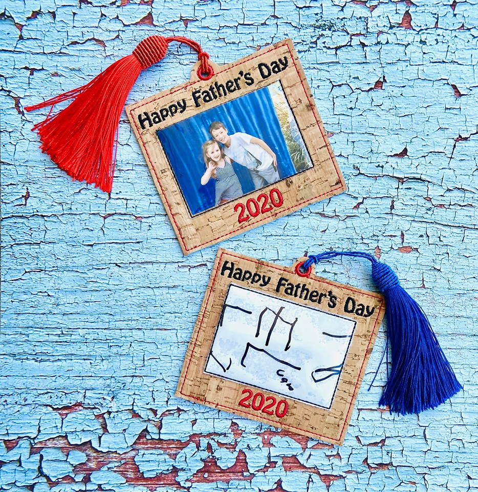 Father's Day Frame and Tag Applique Set 4x4 DIGITAL DOWNLOAD