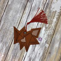Load image into Gallery viewer, Origami fox bookmark 4x4 DIGITAL DOWNLOAD