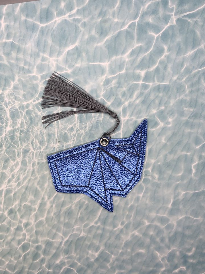 Origami Whale Book mark 4x4 DIGITAL DOWNLOAD