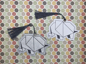 Origami Elephant Bookmark 4x4 DIGITAL DOWNLOAD