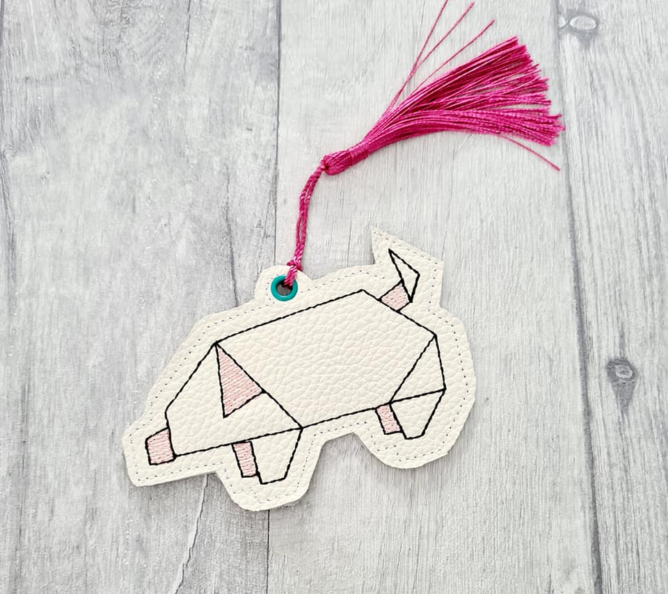 Pig Bookmark 4x4 DIGITAL DOWNLOAD