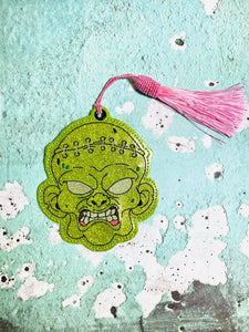 Zombie Head bookmark/Ornament4x4 DIGITAL DOWNLOAD