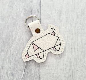 Origami Pig Snap tab 4x4 DIGITAL DOWNLOAD