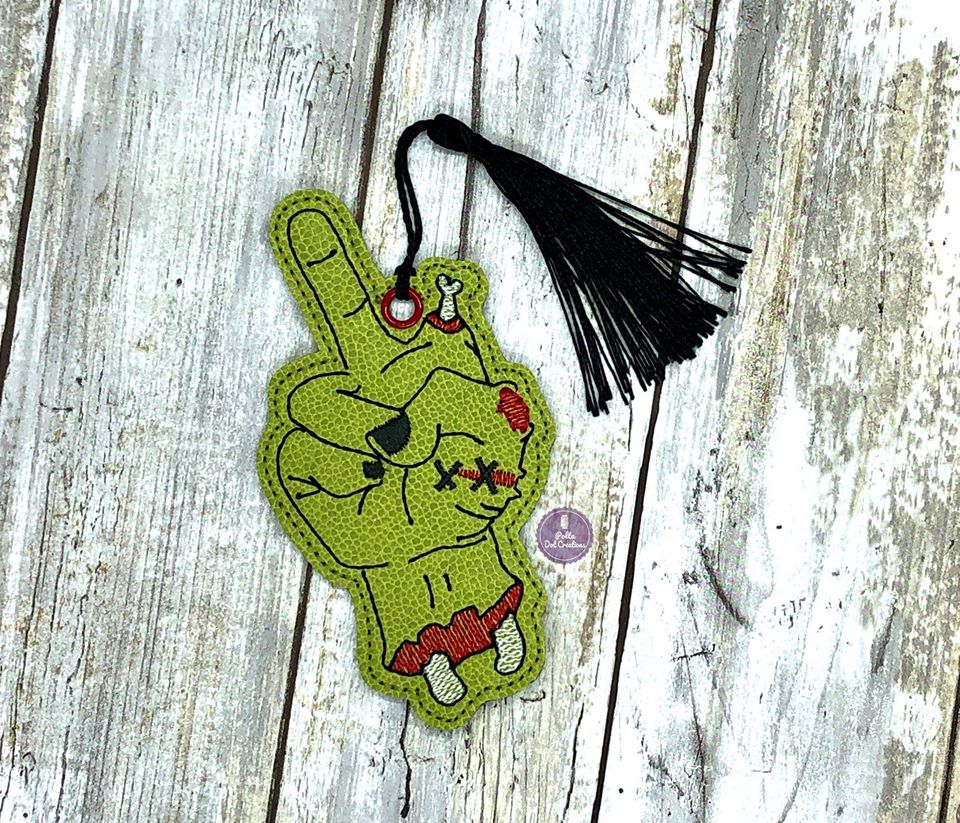 Zombie Middle Finger Bookmark 4x4 DIGITAL DOWNLOAD