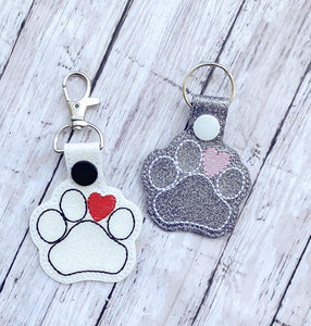Paw heart snap tab DIGITAL DOWNLOAD