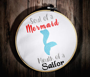 Soul of a Mermaid design 5 sizes included DIGITAL DOWNLOAD