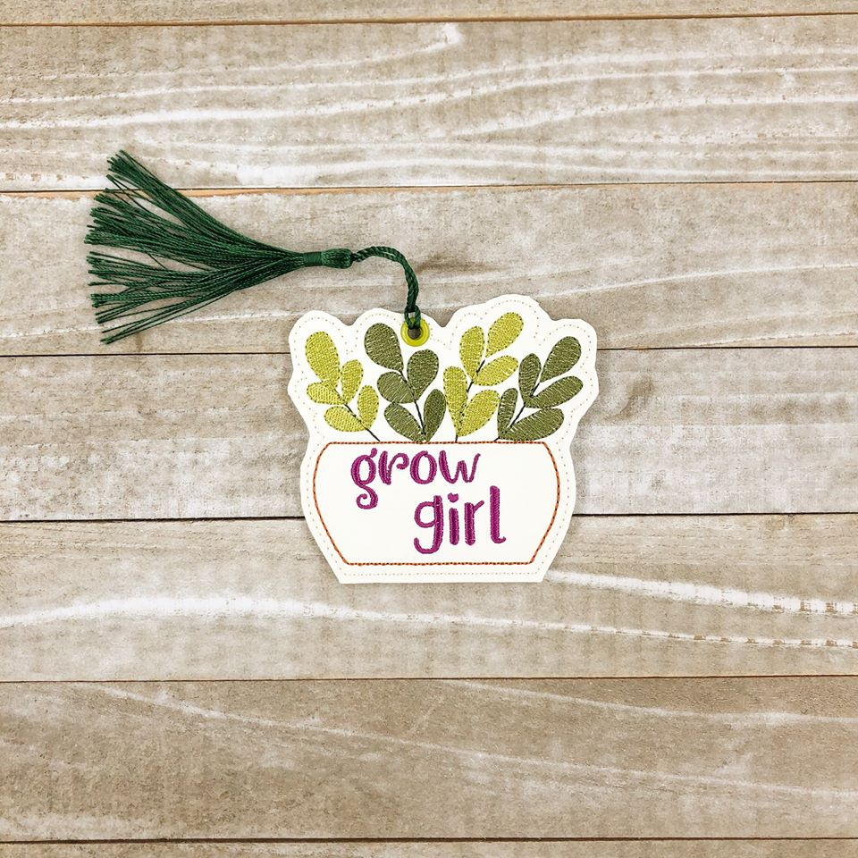 Grow girl Bookmark 4x4 DIGITAL DOWNLOAD