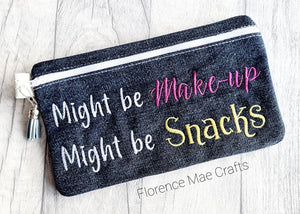 Maybe make up Maybe Snacks ith bag 4 sizes available lined DIGITAL DOWNLOAD