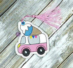Ice Cream Truck Bookmark 4x4 DIGITAL DOWNLOAD