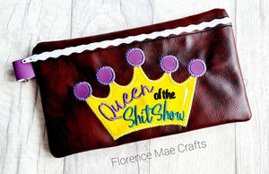 Queen of Shit show ith bag 3 sizes available DIGITAL DOWNLOAD