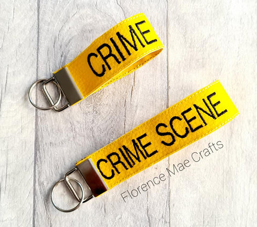 Crime Scene Tape Key Fob 5x7 & 6x10 sizes included DIGITAL DOWNLOAD