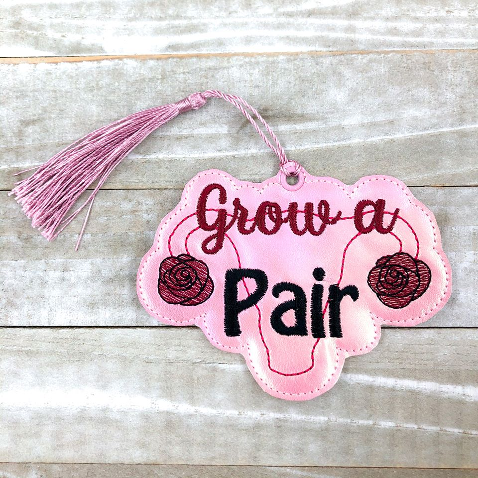 Grow a pair Bookmark 4x4 DIGITAL DOWNLOAD