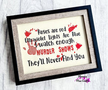 Load image into Gallery viewer, Roses are Red Ultraviolet lights are blue 4 sizes included embroidery design DIGITAL DOWNLOAD