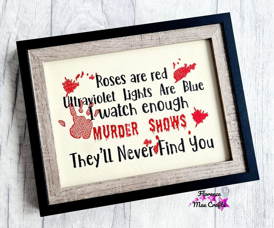 Roses are Red Ultraviolet lights are blue 4 sizes included embroidery design DIGITAL DOWNLOAD