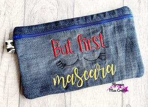 But First mascara In the Hoop Bag 4 sizes Available DIGITAL DOWNLOAD