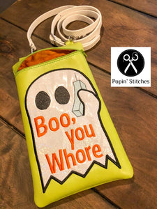 Boo You Whore In the Hoop Bag 4 sizes Available DIGITAL DOWNLOAD