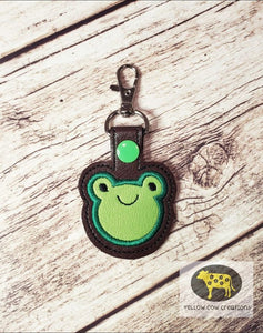 Frog Applique snap tab single and multi file included DIGITAL DOWNLOAD