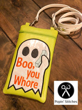 Load image into Gallery viewer, Boo You Whore In the Hoop Bag 4 sizes Available DIGITAL DOWNLOAD