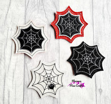 Load image into Gallery viewer, Spider Web Coaster Set of 4 Designs DIGITAL DOWNLOAD