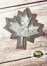 Load image into Gallery viewer, Leaf Applique Coaster  4x4 DIGITAL DOWNLOAD