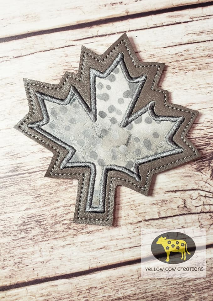 Leaf Applique Coaster  4x4 DIGITAL DOWNLOAD