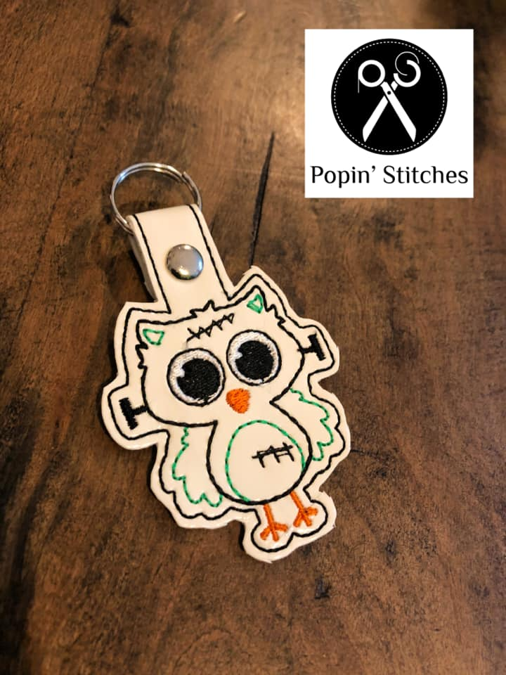 Franken Owl Snap tab Single and Multi files inlcuded DIGITAL DOWNLOAD