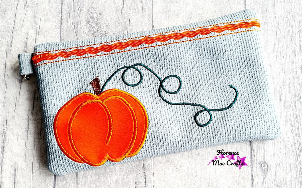 Pumpkin Applique ITH Bag 5 sizes available DIGITAL DOWNLOAD