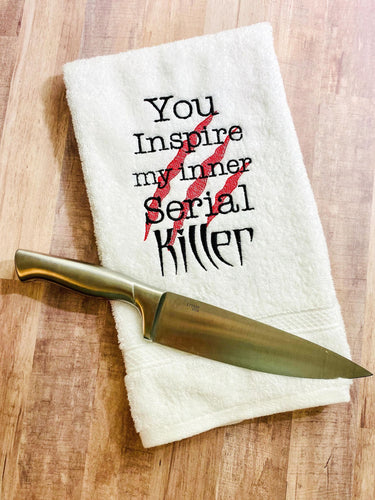 Inner Serial Killer 5 sizes included embroidery design DIGITAL DOWNLOAD