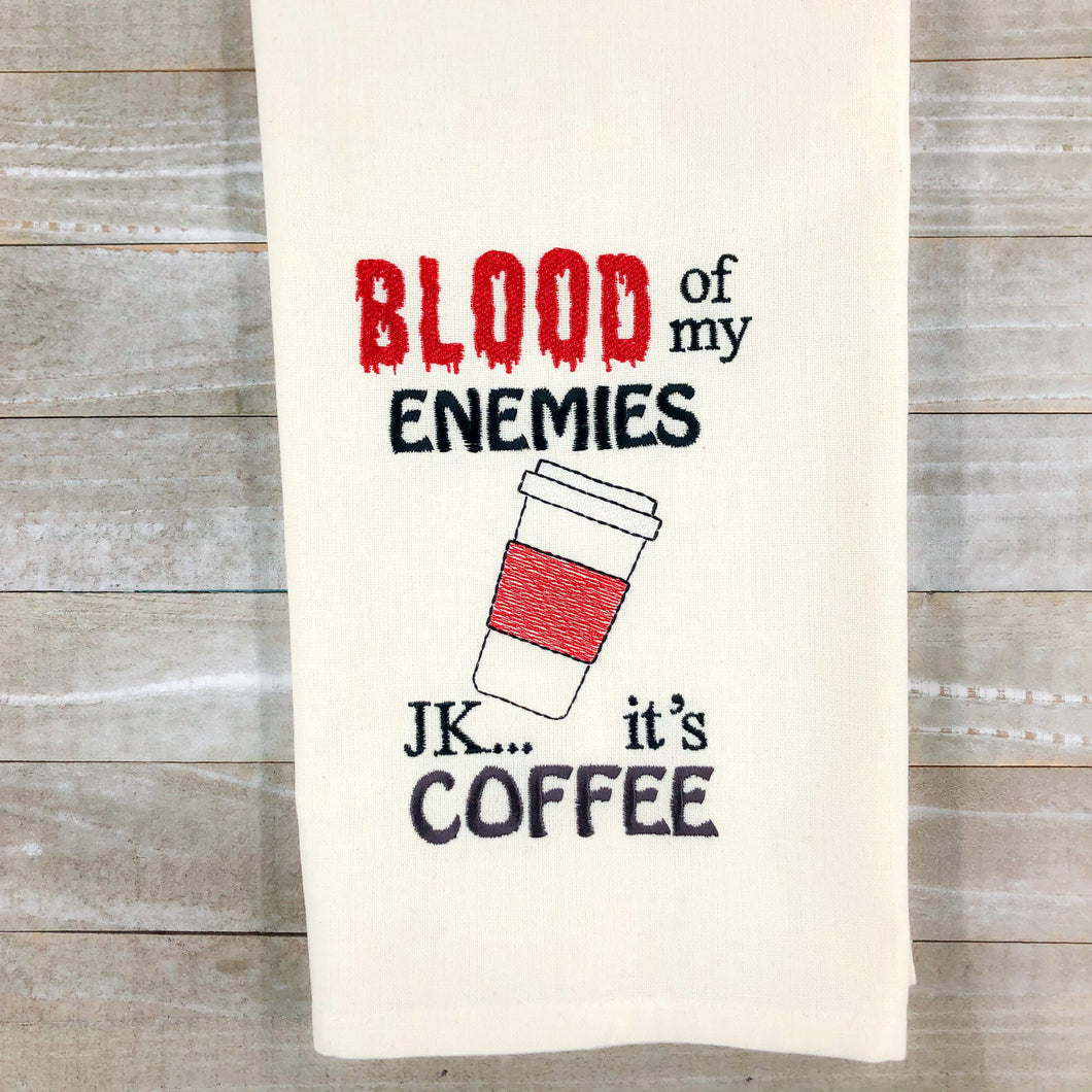 Blood of my enemies Embroidery Design 4 sizes included DIGITAL DOWNLOAD