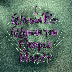 Where the People aren't embroidery design 5 sizes inlcuded DIGITAL DOWNLOAD