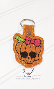 Pumpkin Skull Snap tab single and multi files included DIGITAL DOWNLOAD