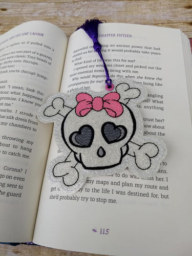 Bow Skull Bookmark/Ornament 4x4 DIGITAL DOWNLOAD