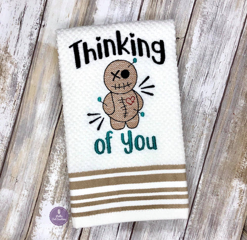 Thinking of you Embroidery Design 5 sizes included DIGITAL DOWNLOAD