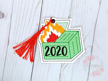Load image into Gallery viewer, 2020 Dumpster Fire Bookmark/ornament 4x4 DIGITAL DOWNLOAD