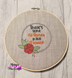Wh%res in this house embroidery design 5 sizes included DIGITAL DOWNLOAD