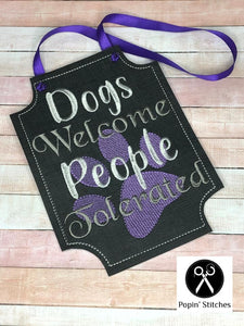 Dogs Welcome Sign 4 sizes included DIGITAL DOWNLOAD