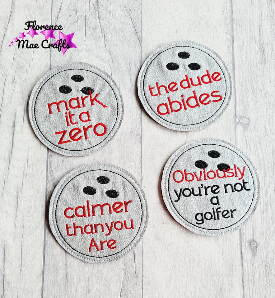 Lebowski Coaster Set of 4 Coaster Designs DIGITAL DOWNLOAD